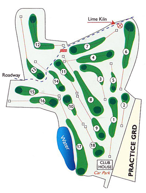Portumna Golf Club Course Layout